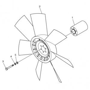 Крыльчатка газового двигателя  Doosan GE08TI