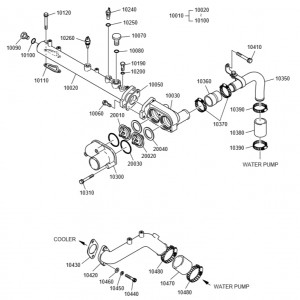 Трубки водяного охлаждения дизельного двигателя Doosan P126TI