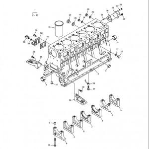 Блок цилиндров газового двигателя  Doosan GE08TI
