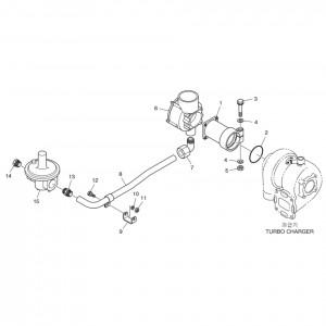 Топливная система газового двигателя Doosan GE08TI