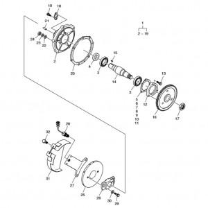 Привод топливного насоса газового двигателя Doosan GE08TI