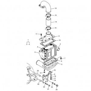 Охладитель воздуха газового двигателя Doosan GE08TI
