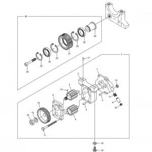 Масляный насос газового двигателя Doosan GE08TI