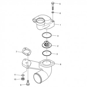 Термостат газового двигателя Doosan GE08TI