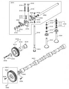 Система газораспределения дизельного двигателя Doosan P126TI