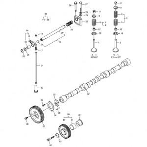 Распределительная система газового двигателя Doosan GE08TI