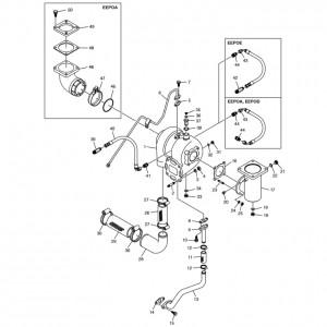 Турбонаддув газового двигателя Doosan GE08TI