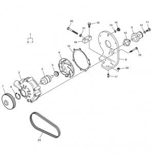 Насос системы охлаждения ч.2 газового двигателя Doosan GE08TI