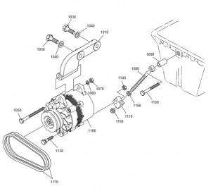 Зарядный генератор дизельного двигателя Doosan P158LE-P180LE-P222LE