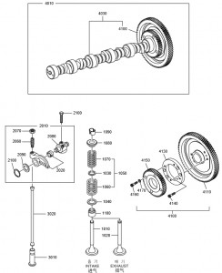 Коленвал дизельного двигателя Doosan P158LE-P180LE-P222LE