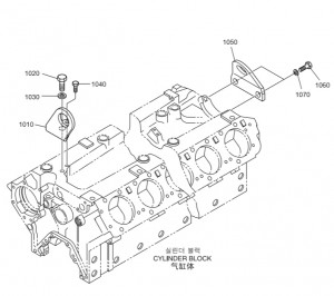 Монтажная скоба дизельного двигателя Doosan P158LE-P180LE-P222LE
