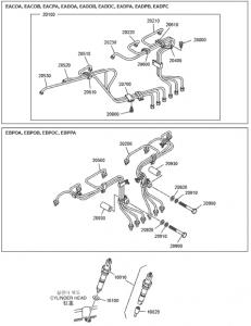 Форсунка и система впрыска дизельного двигателя Doosan P086TI