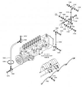 Топливные шланги ч2 дизельного двигателя Doosan P158LE-P180LE-P222LE