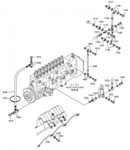 Топливные шланги ч1 дизельного двигателя Doosan P158LE-P180LE-P222LE
