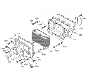 Масляный радиатор дизельного двигателя Doosan P158LE-P180LE-P222LE