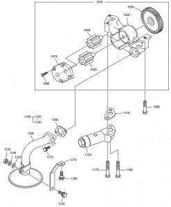 Масляный насос дизельного двигателя Doosan P158LE-P180LE-P222LE