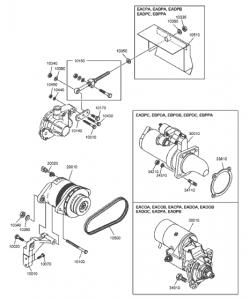 Стартер и генератор дизельный двигатель Doosan P086TI