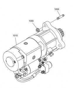 Стартер дизельного двигателя Doosan P158LE-P180LE-P222LE