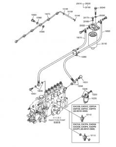 Топливный фильтр дизельный двигатель Doosan P086TI