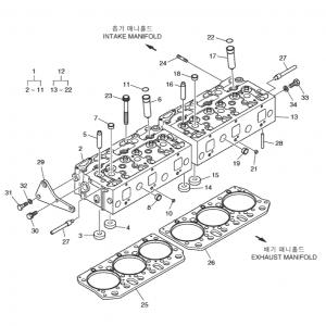 Головка цилиндров газового двигателя GE12TI