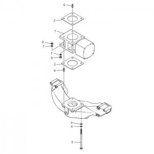 Система впуска газового двигателя GV158TI
