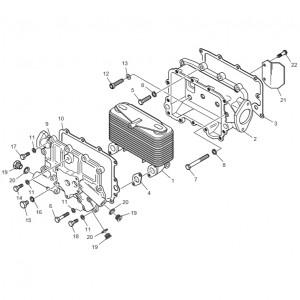 Масляный радиатор газового двигателя GV158TI