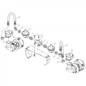 Регулятор давления газового двигателя GV158TI