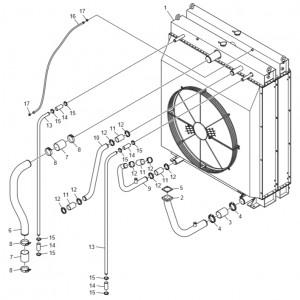 Радиатор системы охлаждения газового двигателя GV158TI