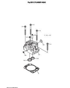 Головка блока цилиндров дизельного двигателя Doosan DP158LD и DP158LC