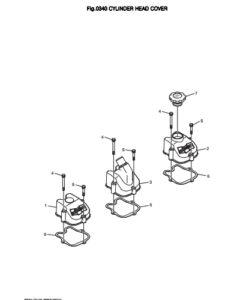 Крышка головки блока цилиндров дизельного двигателя Doosan DP158LD и DP158LC