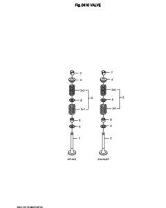 Впускной клапан дизельного двигателя Doosan DP158LD и DP158LC