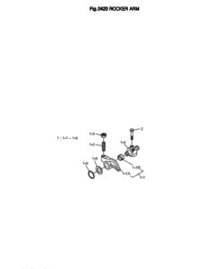 Клапанный механизм дизельного двигателя Doosan DP158LD и DP158LC
