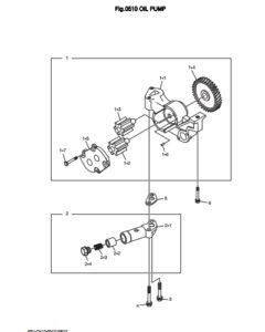 Масляный насос дизельного двигателя Doosan DP158LD и DP158LC