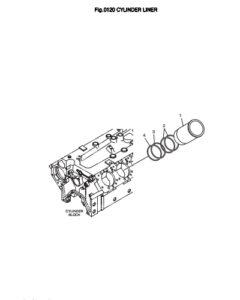 Цилиндр дизельного двигателя Doosan DP158LD и DP158LC