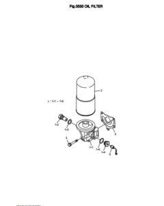 Масляный фильтр дизельного двигателя Doosan DP158LD и DP158LC