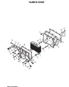 Масляный радиатор дизельного двигателя Doosan DP158LD и DP158LC