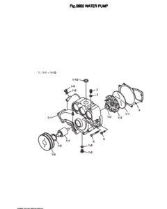 Насос системы охлаждения дизельного двигателя Doosan DP158LD и DP158LC