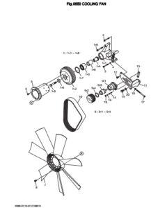 Привод вентилятора дизельного двигателя Doosan DP158LD и DP158LC