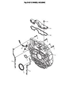 Кожух маховика дизельного двигателя Doosan DP158LD и DP158LC