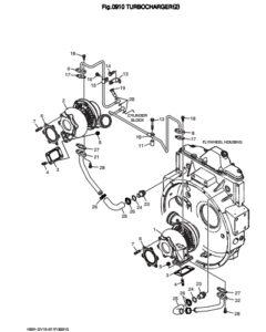 Турбина в сборе дизельного двигателя Doosan DP158LD и DP158LC