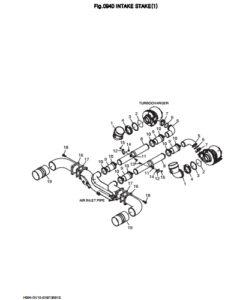 Впускная система дизельного двигателя Doosan DP158LD и DP158LC