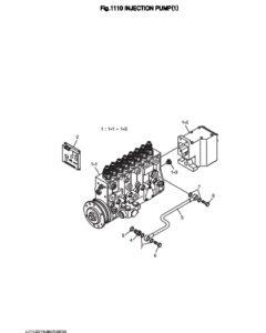 Топливный насос высокого давления в сборе дизельного двигателя Doosan DP158LD и DP158LC