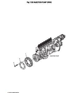 Шестерня насоса ТНВД дизельного двигателя Doosan DP158LD и DP158LC