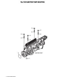 Уплотнительное кольцо дизельного двигателя Doosan DP158LD и DP158LC
