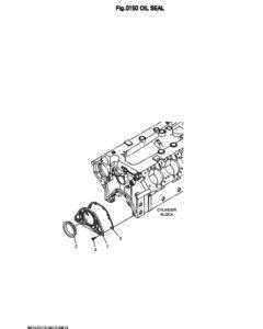 Крышка сальника дизельного двигателя Doosan DP158LD и DP158LC