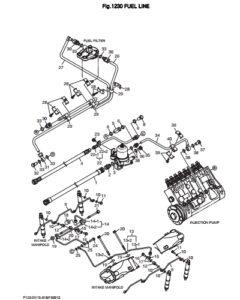 Топливная трубка дизельного двигателя Doosan DP158LD и DP158LC