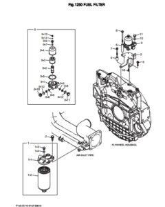 Топливный фильтр дизельного двигателя Doosan DP158LD и DP158LC