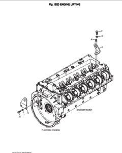 Транспортировочная скоба дизельного двигателя Doosan DP158LD и DP158LC