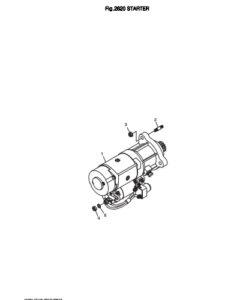Стартер дизельного двигателя Doosan DP158LD и DP158LC