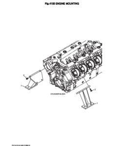 Крепление двигателя дизельного двигателя Doosan DP158LD и DP158LC